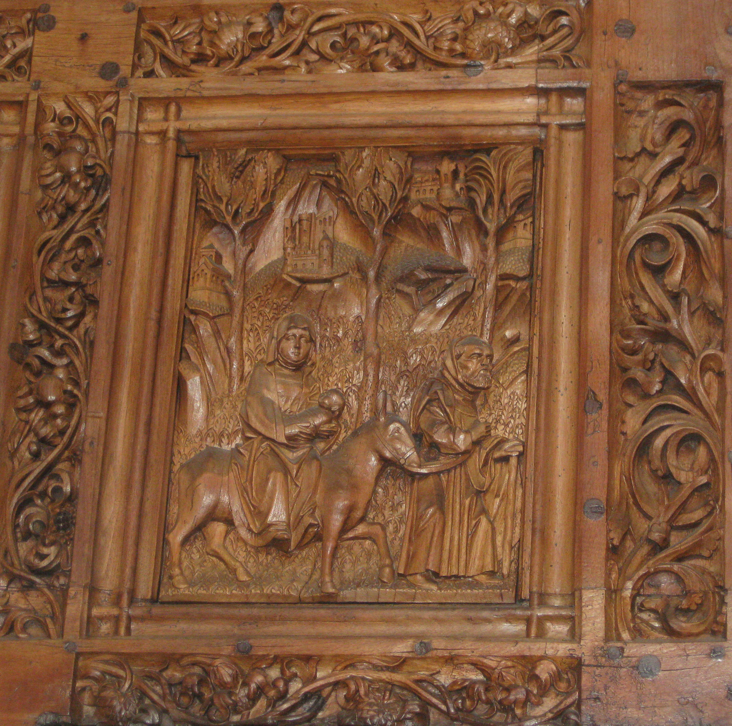 picture of an ancient wood carving